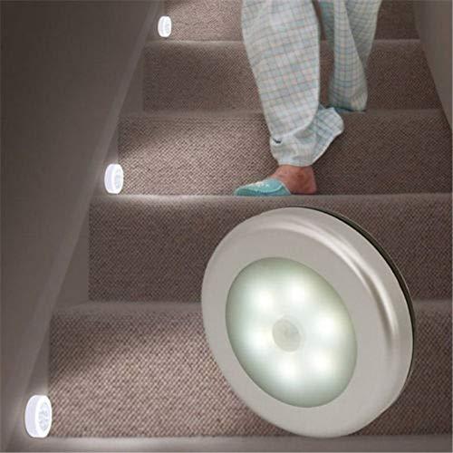 XHSHLID 6 LED-verlichting bewegingsmelder, draadloos, voor binnen, kast/lade/trap thuis