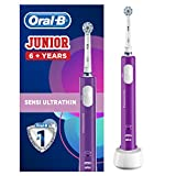 Cepillo de dientes eléctrico recargable Oral-B Junior para niños de 6 años en adelante, morado