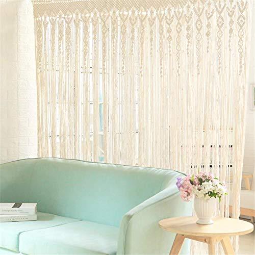 Hainter Boho handgewebte Makramee Türvorhang Vorhang 90 x 180cm Trennwand Fenster Vorhang Fenstervorhang