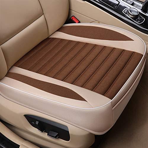 LXHY Funda para Asiento de Coche Flax Universal Cubierta de Asiento para automóviles Transpirable Auto Asiento Cojín Protector Frente Trasero Ajustable Asiento Automóvil Mat Suave y Confortable