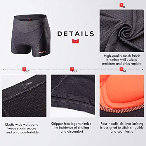 Souke Sports Damen Fahrrad Unterwäsche 4D Gepolstert Atmungsaktiv Fahrrad Unterwäsche Short - 5