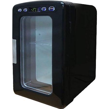 UP STORE 冷温庫 小型冷蔵庫 10L 氷点下-2~60℃まで設定可能 保温 保冷 ポータブル 家庭用ACコード 車載用DCコード (ブラック)