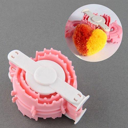 xxiaoTHAWxe DIY Craft Supplies, Creative Heart Shape Ball Weaving Tool Cloths Knitting Loom Yarn Pom Pom Maker DIY Weaving Tool - Best Gift!