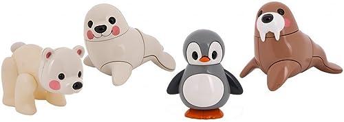 Tolo Toys First Friends Ensemble Famille d'animaux Polaires Pingouin, Morse, Ours Polaire, Phoque
