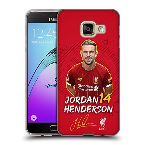 Ufficiale Liverpool Football Club Jordan Henderson 2019/20 Prima Squadra Gruppo 1 Cover in Morbido Gel Compatibile con Samsung Galaxy A3 (2016)