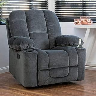 Christopher Knight Home Raymond Glider Recliner Club Chair, Steel Grey