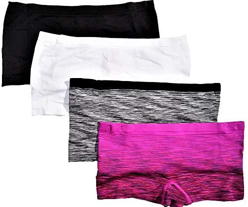 No Boundaries Seamless Boyleg Panty (4 Pack) (Medium)