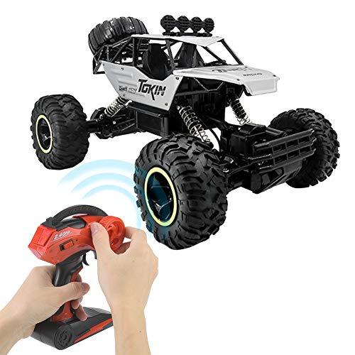 Wxlxj RC Car 1:12 2.4ghz Velocidad Rápida Amortiguador De Cuatro Ruedas Aumento De La Escala Remota Control De Automóvil RC Modelo De Automóvil Control Remoto De Juguete Coche (Plata)