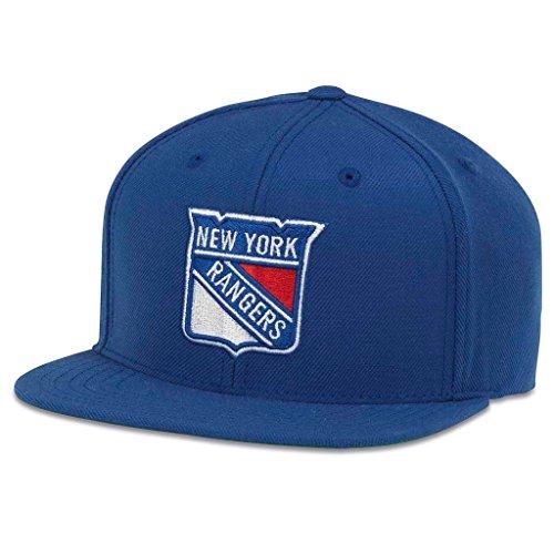 AMERICAN NEEDLE 400 Series NHL Team Hat, New York Rangers, Royal (400A1V-NYR)