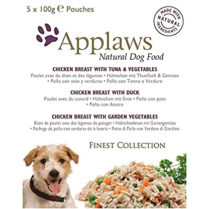 Applaws Natural Dog Food, Multipack, Finest Collection,In Jelly Pouch, 100g (Total Pack of 20) 8