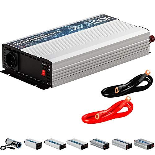 VOLTRONIC® MODIFIZIERTER Sinus Spannungswandler 1500W mit E-Kennzeichen, 12V auf 230V, Stromwandler Inverter Wechselrichter Auto PKW