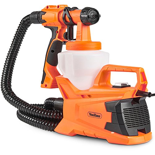 VonHaus Paint Gun Electric HVLP Spray Gun with 3...