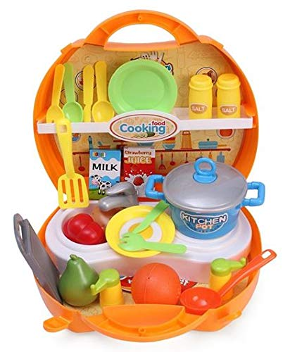 Gooyo Happy Chef Toy Kitchen Cooking Set Multicolour - 33 Pieces for Kids/Girls