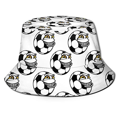 FULIYA Fisherman Senderismo sombrero de ala ancha, mascota de fútbol con juego de deportes de expresión de cara feliz divertido