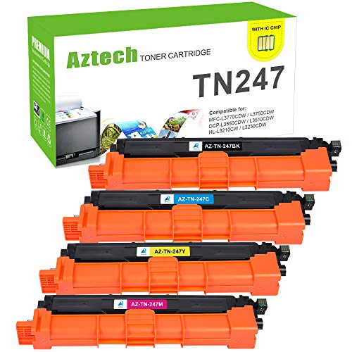 Aztech Kompatibel TN247 Toner Cartridge Replacement für Brother TN-247BK TN247BK TN-243BK für Brother MFC-L3750CDW MFC-L3770CDW DCP-L3550CDW HL-L3230CDW Toner Brother DCP-L3510CDW HL-L3210CW Toner