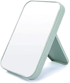LLSS عالية قائمة ماكياج الوجه مرآة سطح المكتب خلع مرآة الجمال الأميرة مرآة طي مربع الأزياء البسيطة منضدة منضدة المرايا