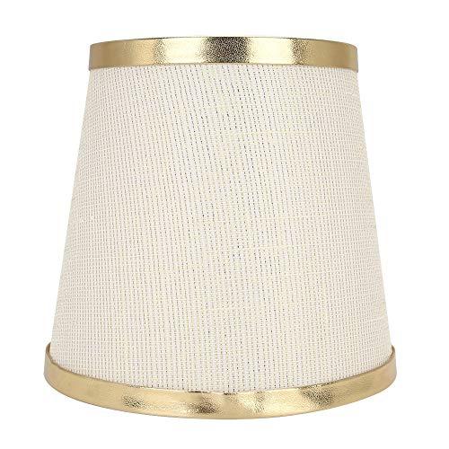 Pantalla de lámpara de tela moderna Pantalla de luz de mesa para decoración del hogar(Gold Line Phnom Penh)