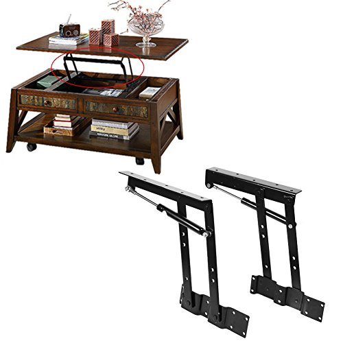 1 par que se levanta Levanta hacia arriba la mesa superior Bisagras de hardware Mesa de soporte de escritorio de café de primavera con carga grande: 50 kg / 100 lb