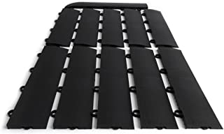 SnapFloors E175BLAK11F Transition Kit 10 Edges, 1 Female Corner Durable Interlocking Modular Garage Flooring Tile (11 Piece), Black,
