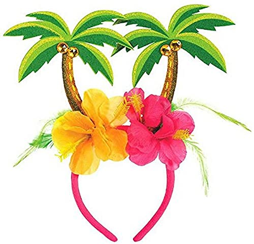 amscan 393926 Palm Tree with Hibiscus Floral Head Bopper, 10.25' x 10'
