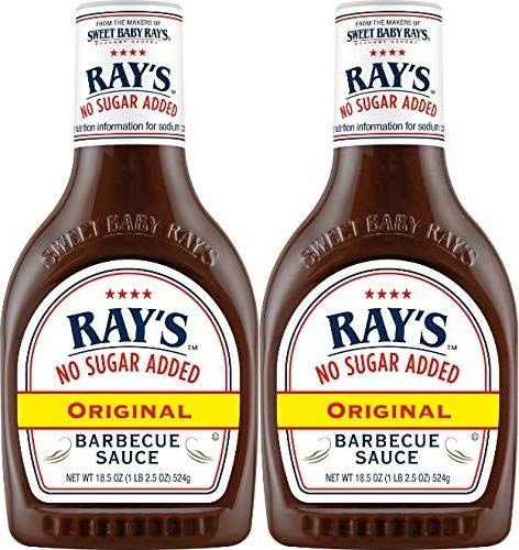 Sweet Baby Ray's No Sugar Added Original Barbecue Sauce 18.5oz Pack of 2