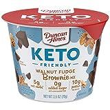 Duncan Hines Keto Friendly Dessert Cups Walnut Fudge Brownie Mix, Walnut Brownie Cake Cup, 30 oz (Pack of 12)