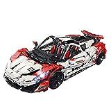 Elroy369Lion Technic Drift Car Building Kit a escala 1:8 para McLaren P1 MOC Sportwagen, compatible con Lego Technic (3318 piezas)