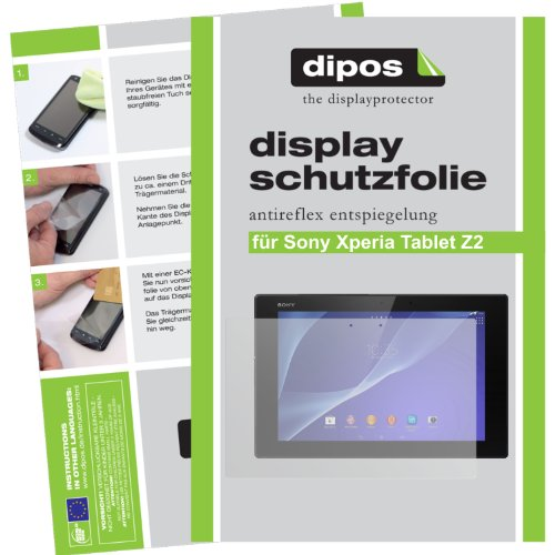 dipos I 2X Schutzfolie matt kompatibel mit Sony Xperia Tablet Z2 Folie Bildschirmschutzfolie