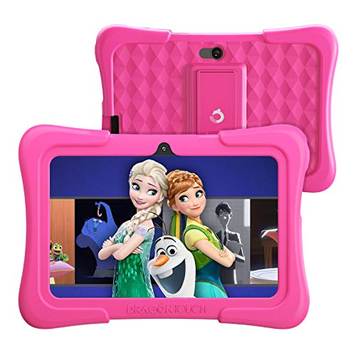 Dragon Touch KidzPad Y88X Kids Tablet with 2GB RAM 32GB ROM, 7 inch IPS HD Display, Android 10.0, Quad Core Processor, Kidoz Pre Installed with Disney Contents, Kid-Proof Case, Wi-Fi only