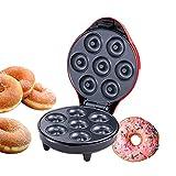 Pilvnar Mini Donut Machine Revestimiento Antiadherente 1200 W Puede Hacer 7 Donuts Máquina de Donuts para Hacer Comidas, bocadillos y postres Herramientas de Cocina para Hornear
