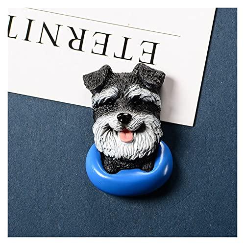 YSJJWDV Imanes para Nevera 3D Refrigerador imán Cachorro Dibujos Animados Mascota Perro Lindo Animal Creativo Mensaje Post Creativo imán frigorífico Pasta imanes de Nevera (Farbe : Schneider)