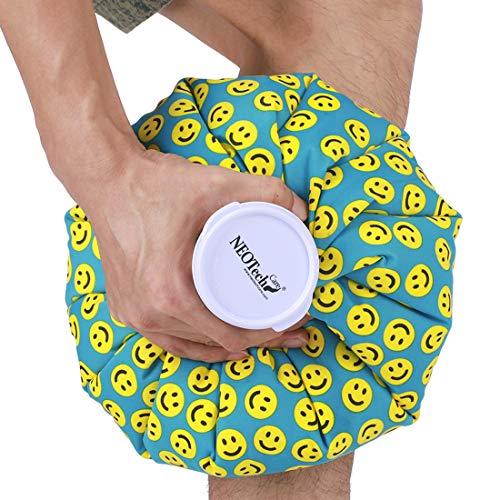 Bolsa de hielo - Tapón de rosca - Marca Neotech Care - Diseño (sonrisas, 12cm)