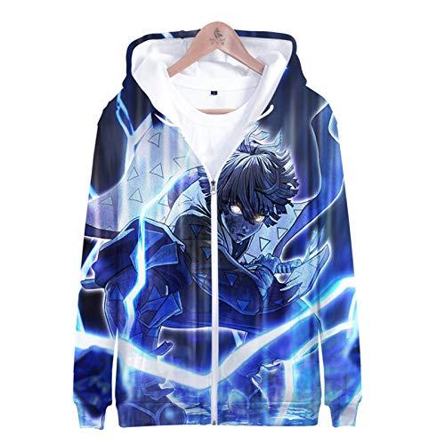 IUYITY-Ghost Blade-3D Printed Jacket Men's Hip-Hop Hoodie,Zipper Children's Jackets, Children's Clothing, Boy/Girl Funny Print Pullover-XXL