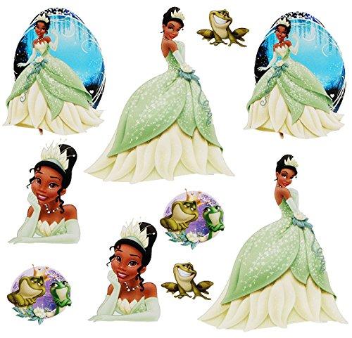alles-meine.de GmbH 10 TLG. Set _ Fensterbilder -  Disney Küss den Frosch / Prinzessin Tiana  - Sticker Fenstersticker Aufkleber - selbstklebend + wiederverwendbar - Fensterbil..
