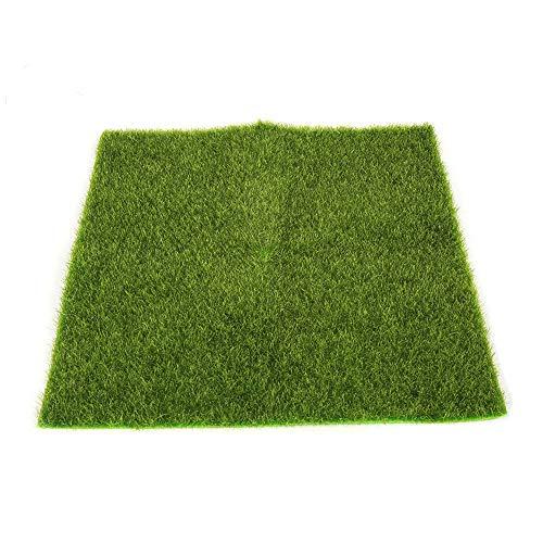 jieGorge Artificial Faux Garden Turf Grass Lawn Moss Miniature Craft Dollhouse Decor, Toys and Hobbies (L)