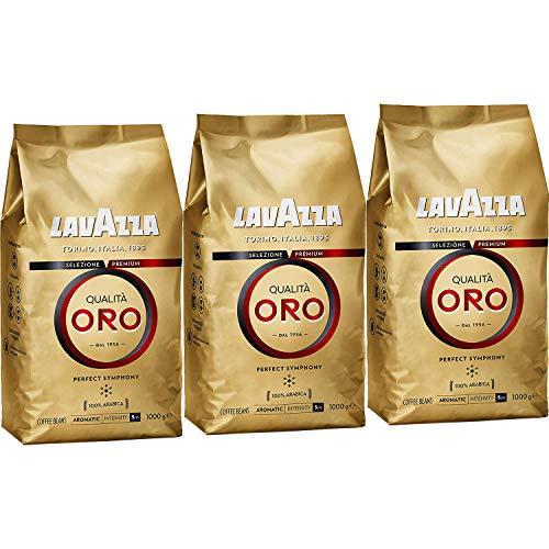 3x Lavazza Qualita Oro, Café de grano tostado - 1kg