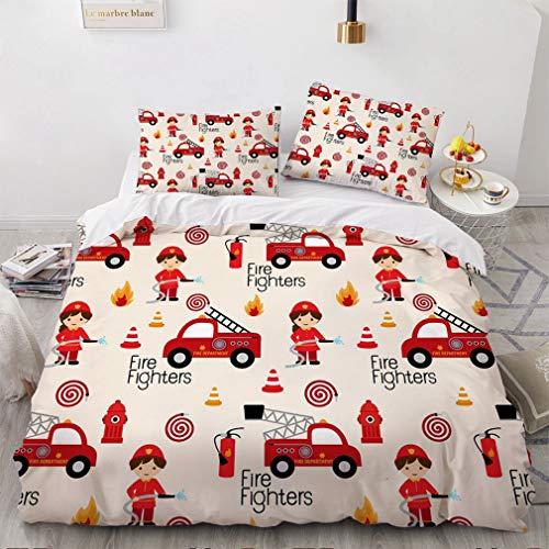 Bettbezug-Set für Einzel-, Doppel-, Kingsize- und Super-King-Size-Bett, 3D-Cartoon-Anime-Charakter-Muster, bedruckt für Kinder, Jugendliche und Erwachsene (N,135 x 200 cm)