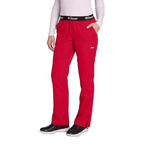 c39ce24e1e5 Grey's Anatomy Active 4275 Women's Modern Fit 3-Pocket Logo Waistband  Drawstring Scrub Pants