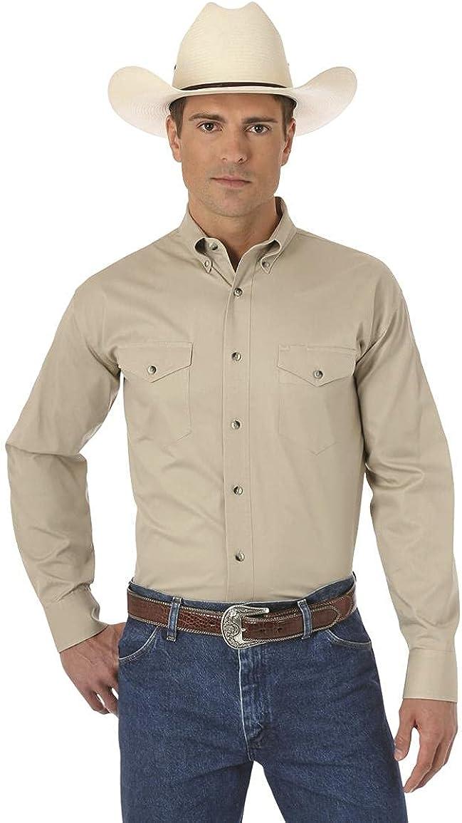 Wrangler Men's Western Long Sleeve Button Work Shirt