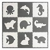 VeloVendo® - Tappeto Puzzle 20% di Spessore in piú dei Normali Tappeti Puzzle con Certificato CE in soffice Schiuma Eva | Tappeto da Gioco per Bambini (Animali)