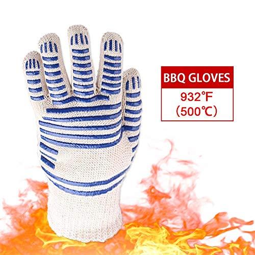Banane 1 paire de gants résistants à la chaleur pour barbecue – 932°F/ 500°C Gants de four résistants à la chaleur, accessoires parfaits pour barbecue pour protection de l'avant-bras facile à utiliser