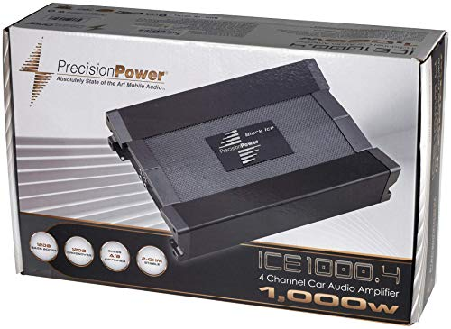 PRECISION POWER - Black Ice Series ICE1000.4 1000W 4-Channel Class A/B Amplifier