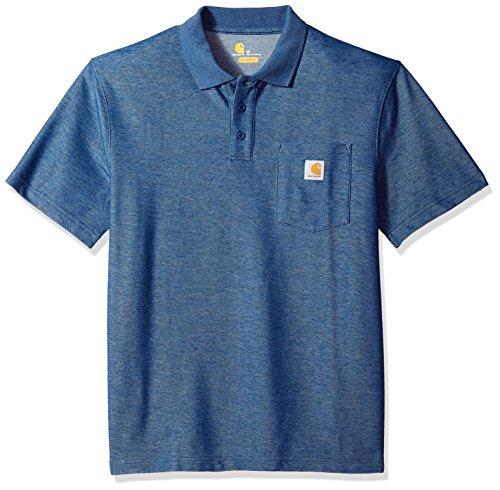Carhartt Men's Contractors Work Pocket Polo Original Fit K570, Dark Cobalt Blue Heather, X-Large