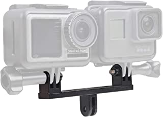 SUREWO Aluminum Dual Twin Mount Adapter Compatible with GoPro Hero 8 7 6 5 Black,APEMAN/AKASO/DJI Omso Action and More