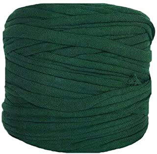 Clisil Art-Yarn Dark Green T-Shirt Yarn Crochet Yarn Fabric Knitting Yarn Chunky Yarn..