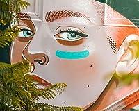 数字で描くアクリル絵の具の色原稿落書きの女の子の顔アートストリートアート絵の描画リビングルームアクリルユニークな子供ギフトリネンの装飾アート カスタマイズ可能 40x50cm DIYフレーム