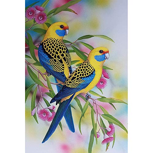 TheBigThumb DIY 5D Diamond Painting Kits DIY Blue Rose Birds Animal 5D Mosaic Full Drill Round Diamond Painting Kit