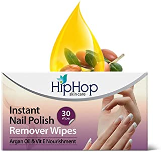 HipHop Skincare Instant Nail Polish Remover Wipes, 30 Wipes (Pack of 2)