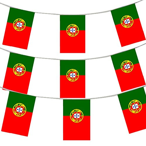 100FT 30 METERS PORTUGUESE FLAG BUNTING PORTUGAL PARTY EURO DECORATION LARGE EUROPEAN HUGE 20 X 30CM ALL WEATHER PLASTIC BUNTING PORTUGUESE FLAGS PORTUGAL FLAG EVENT BANNER SCHOOL PORTUGAL NATIONAL DAY PORTUGUESE THEME