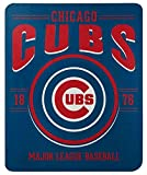Northwest MLB Chicago Cubs 50x60 Fleece Southpaw DesignBlanket, Team Colors, One Size